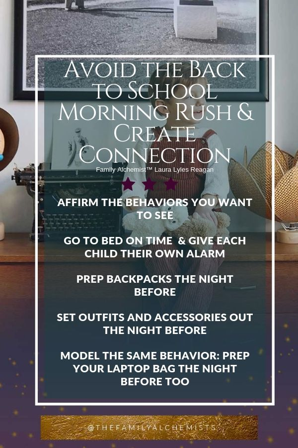 Parent Help Coaching Education Teen Laura Lyles Reagan Avoid the Back to School Morning Rush and Create Connection