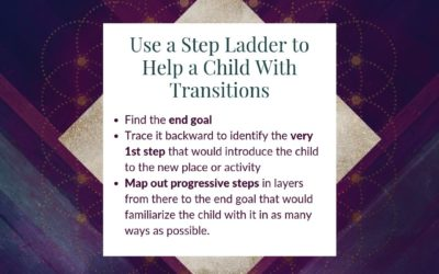 Using a Step Ladder to Help a Young Child With Transitions